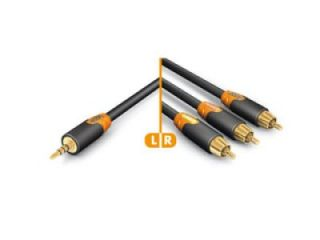Hicon Composite AV Cable 3 x RCA to 3.5mm Jack - 0.75M