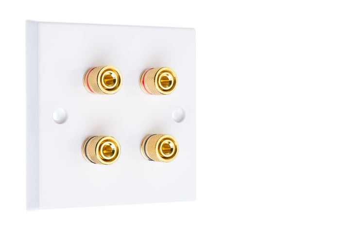 CPC Loudspeaker Connection Plates - 4x Binding Posts