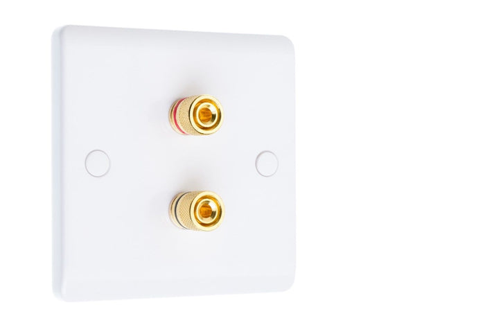 CPC Loudspeaker Connection Plates - 2x Binding Posts