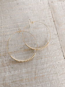 Classic Beaded Hoops