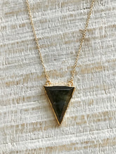 Load image into Gallery viewer, Labradorite Triangle Drop