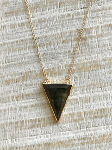 Labradorite Triangle Drop