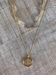 Rustic Coin Necklace