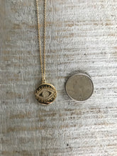 Load image into Gallery viewer, Gold Evil Eye necklace