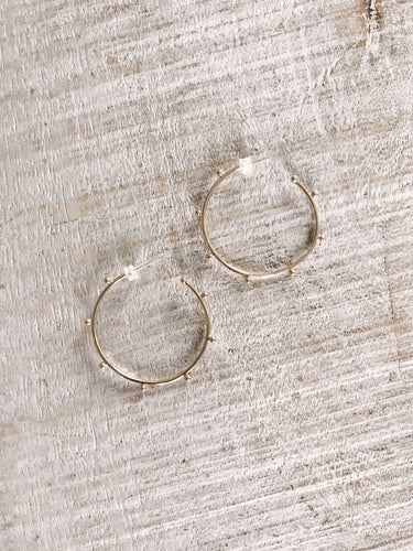Gold Ball Hoops