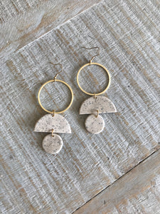 Gold and Clay Earrings