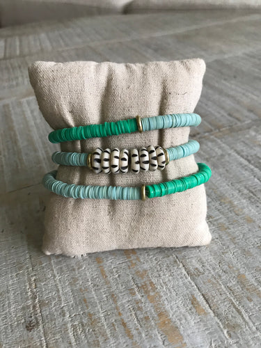 Blue / Green Tribal Vinyl Stack