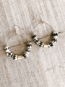 Batik Hoop Earrings