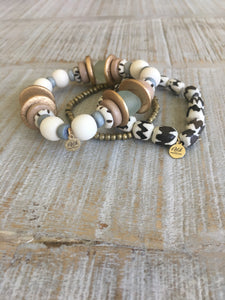 Sea Beaded Bracelet Stack