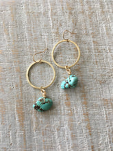 Load image into Gallery viewer, Turquoise and Gold Earrings