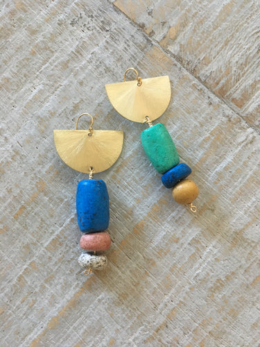Moroccan Pottery Earrings