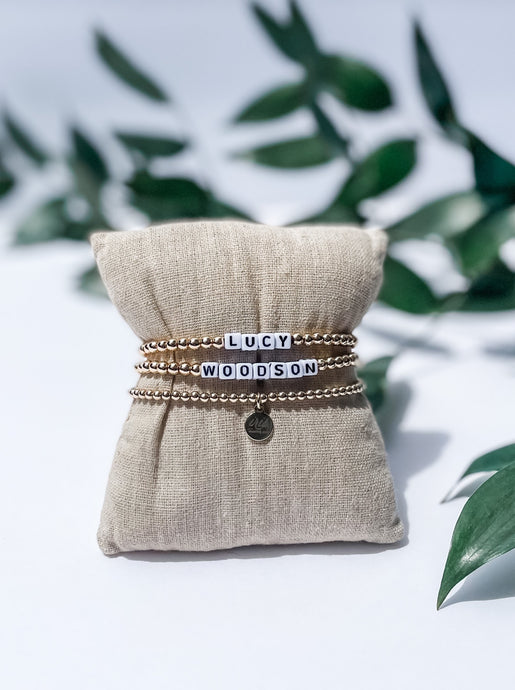 Customizable Word Bracelet