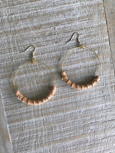 Vinyl Hoops with Gold Detail