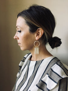 Gold and Bone Spike Earrings - Short Edition