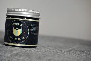 grzzly scented beard balm for styling and softening