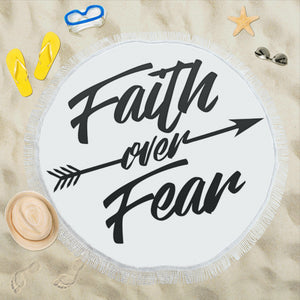 Faith Over Fear-Beach Mat-Beach Mats-Elisway