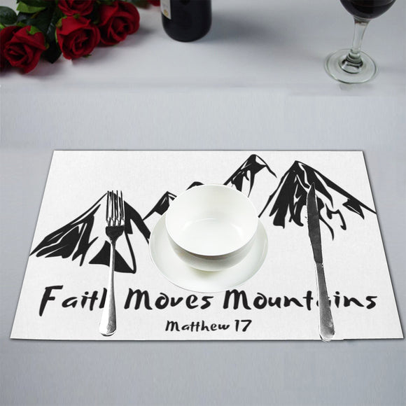 Faith Moves Mountains-Placemats (Set of 6) - elisway