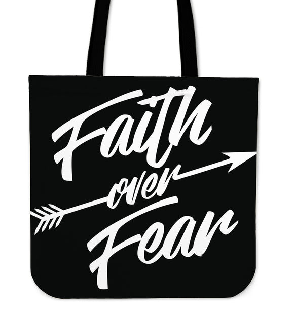 Faith Over Fear-Tote Bag.-Elisway