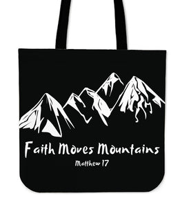 Faith Moves Mountains-Tote Bag-Elisway