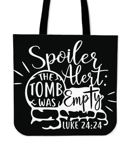 The Tomb Was Empty-Tote Bag-Elisway