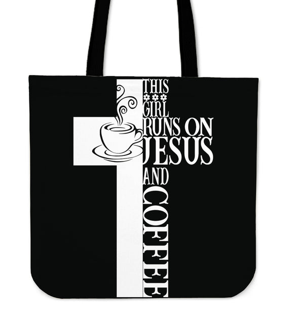 Jesus And Coffee-Tote Bag-Elisway
