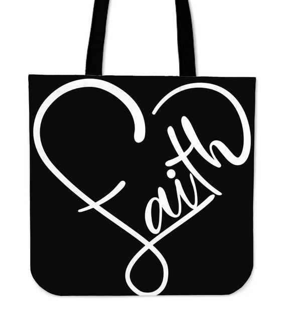 Faith Heart-Tote Bag-Elisway
