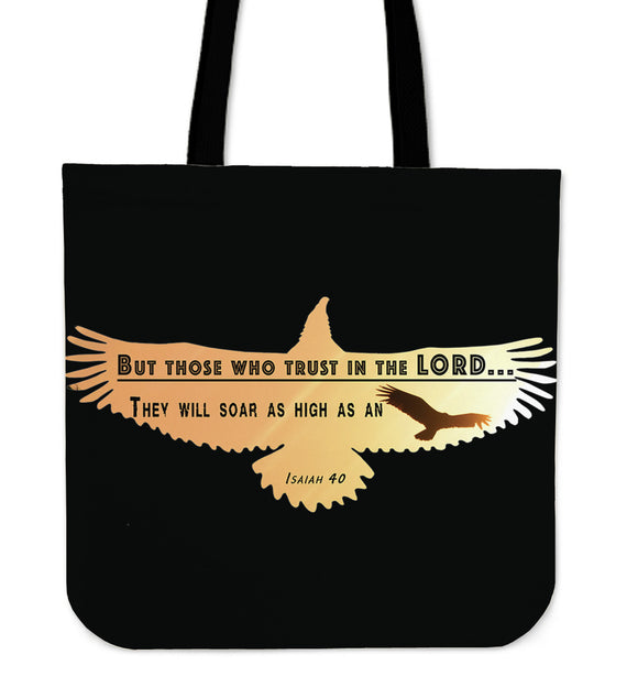 As High As An Eagle-Tote Bag-Elisway