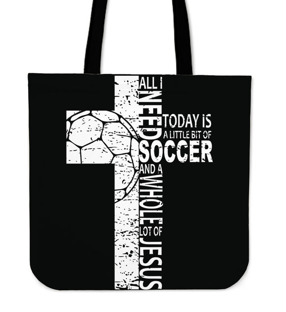 Jesus And Soccer-Tote Bag-Elisway