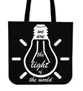 Light Of The World-Tote Bag (black)-Elisway