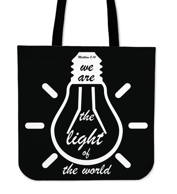 Light Of The World-Tote Bag (black) - elisway