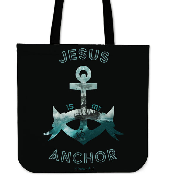 Jesus Is My Anchor-Tote Bag-Elisway