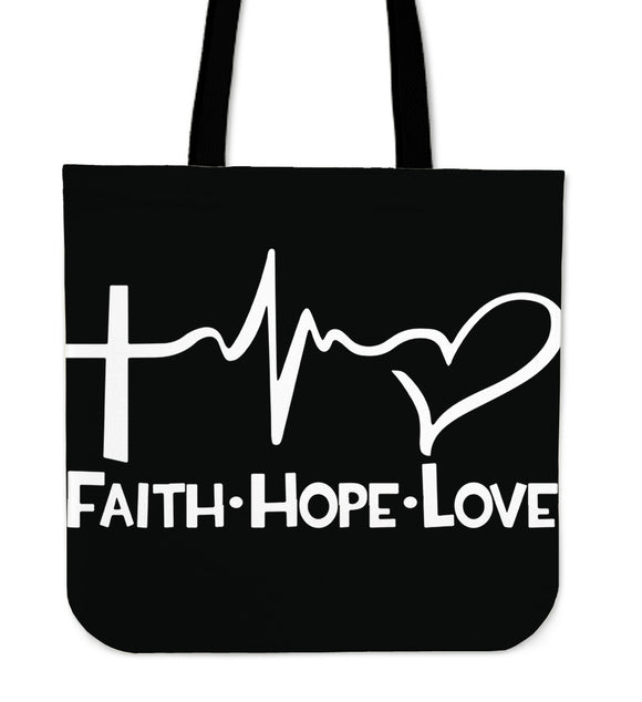Faith Hope Love-Tote Bag-Elisway