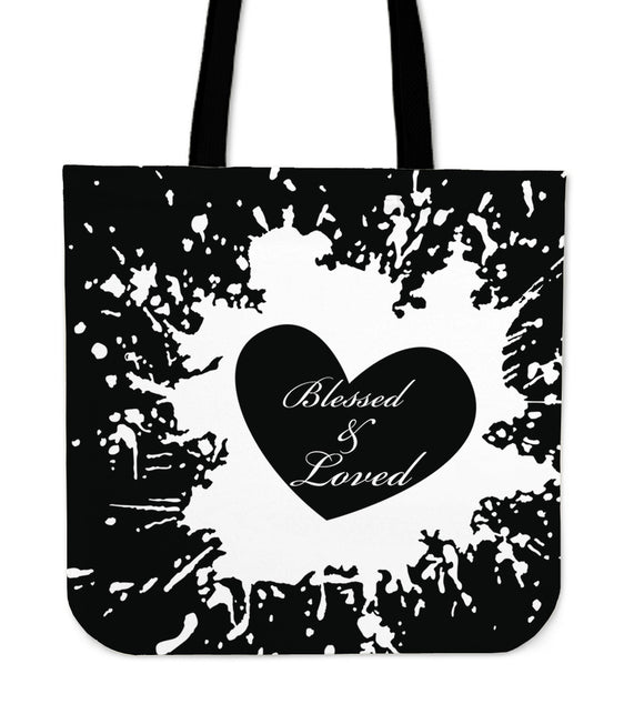 Blessed And Loved-Tote Bag-Elisway