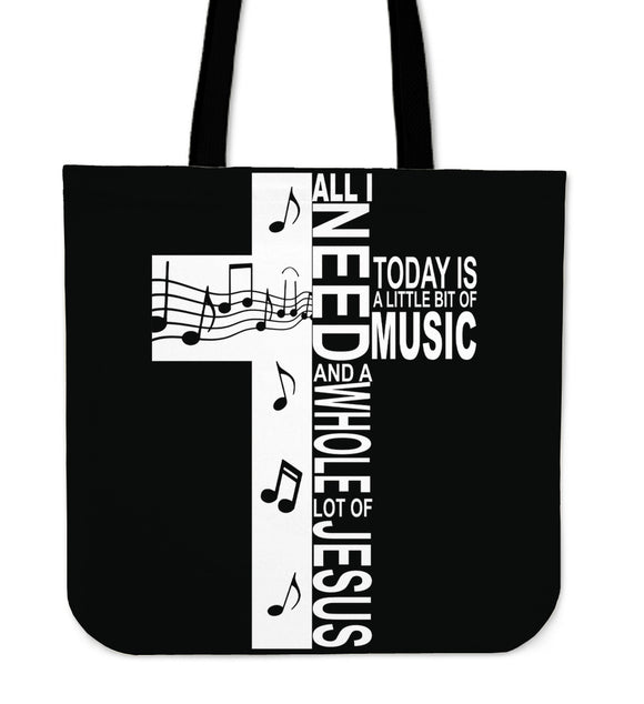 Jesus And Music-Tote Bag-Elisway