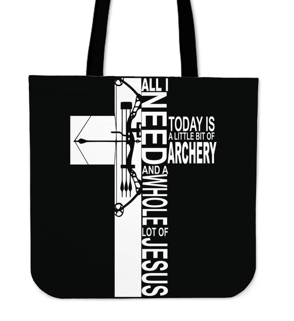 Jesus And Archery-Tote Bag-Elisway