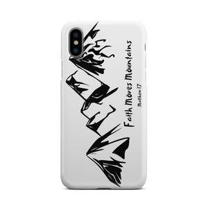 Faith Moves Mountains-Phone Case - elisway