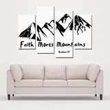 Faith Mountains-4 Panels Canvas Prints Wall Art - elisway