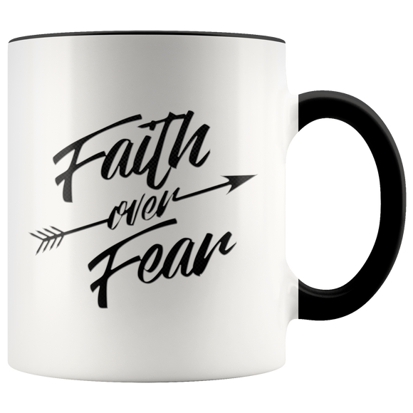 Faith Over Fear-Mug (11oz.)-Drinkware-Elisway