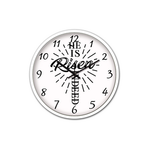 He Is Risen-Silent Wall Clock - elisway