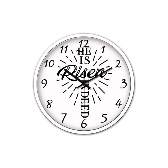 He Is Risen-Silent Wall Clock-Wall clock-Elisway