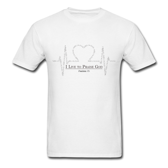 I Live To Praise-Men's T-Shirt - elisway