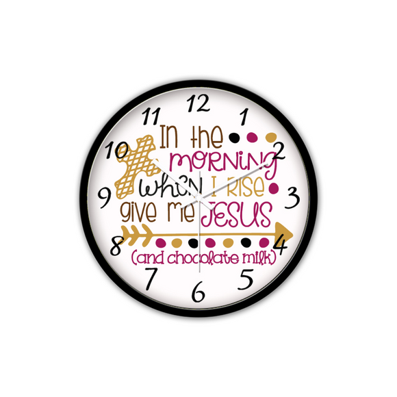 Give Me Jesus-Silent Wall Clock-Wall clock-Elisway