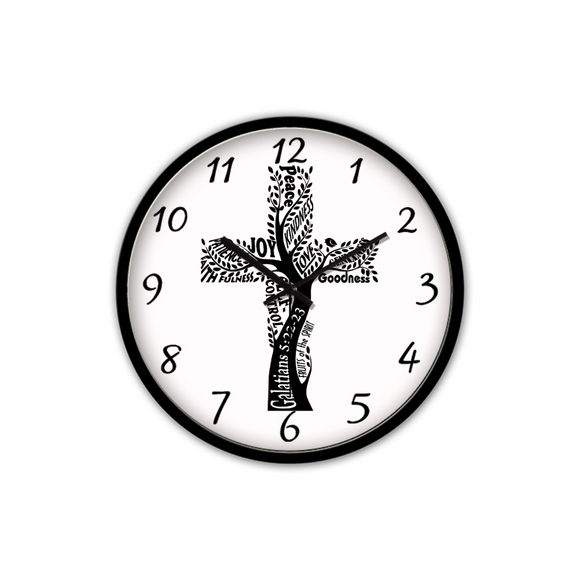 Fruit Of The Spirit-Silent Wall Clock-Wall clock-Elisway