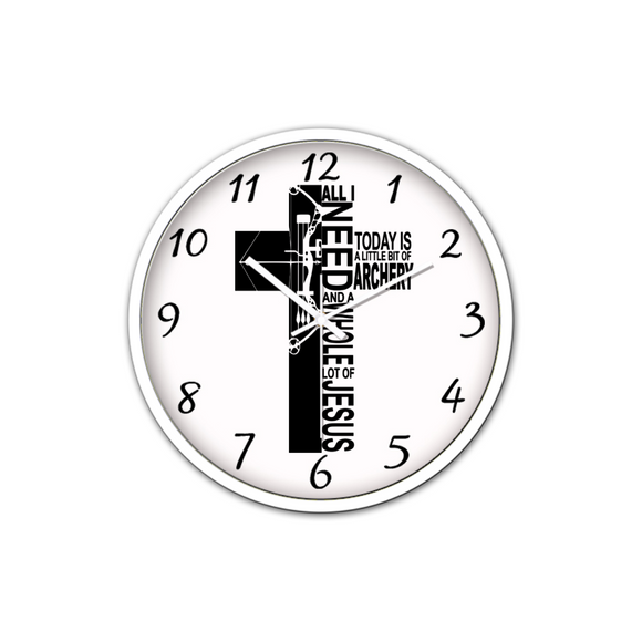 Jesus And Archery-Silent Wall Clock-Wall clock-Elisway