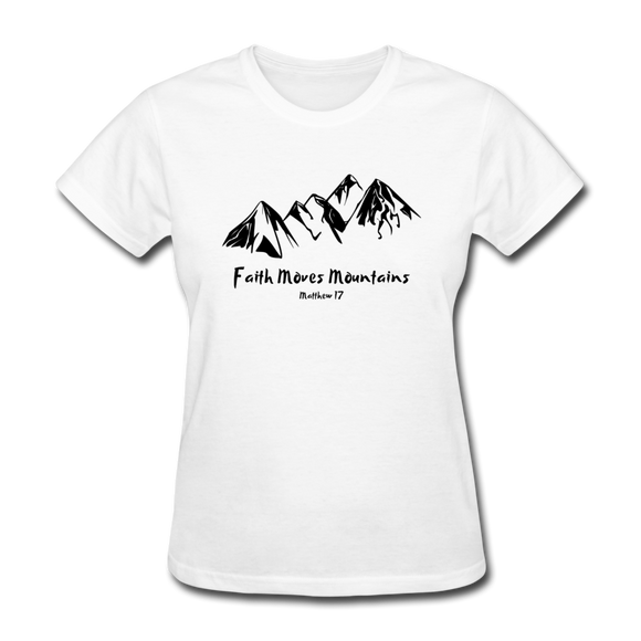 Faith Moves Mountains-Women's T-Shirt-Women's T-Shirt-Elisway