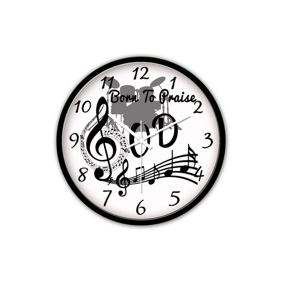 Born To Praise God-Silent Wall Clock-Wall clock-Elisway