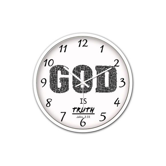 God Is Truth-Silent Wall Clock - elisway