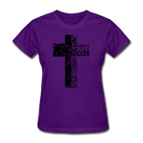 Jesus And Soccer-Women's T-Shirt - elisway
