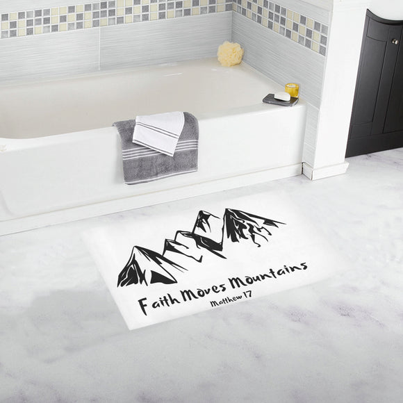 Faith Moves Mountains-Bath Rug - elisway