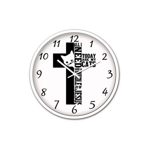 Jesus And Cats-Silen Wall Clock - elisway